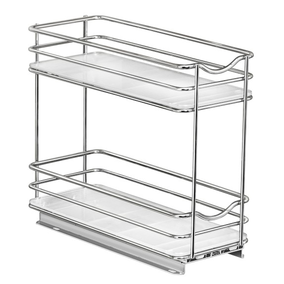 lynk slide out two tier spice rack
