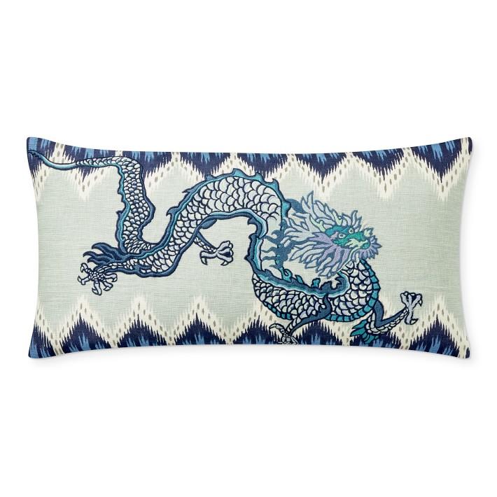 schumacher chiang mai dragon lumbar pillow cover