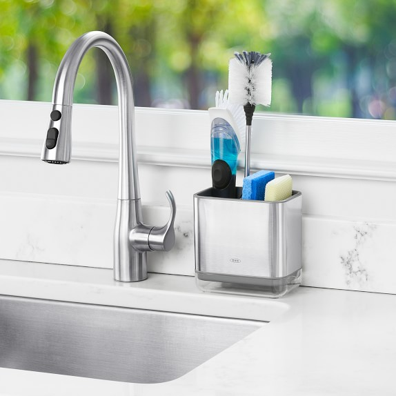 oxo stainless steel sinkware caddy