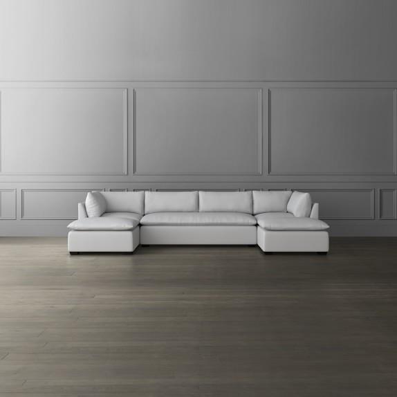 laguna 5 piece modular u shape chaise sectional