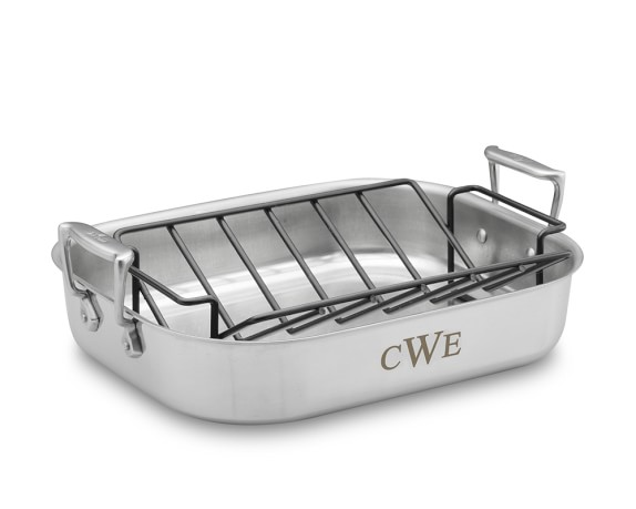 all clad stainless steel roasting pans with rack