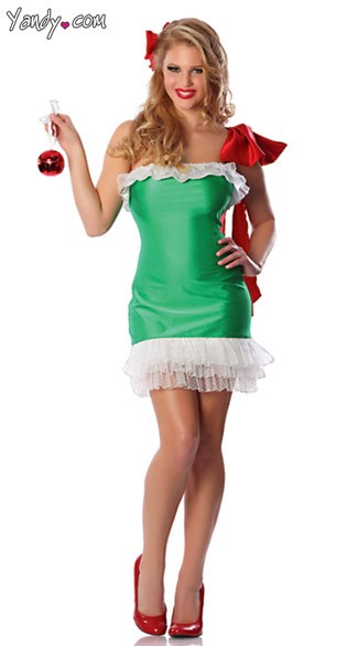 Gift Wrapped Costume Christmas Ornament Costume Womens
