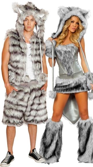 Big Bad Wolf Couples Costume Set Sexy Wolf Costume Big