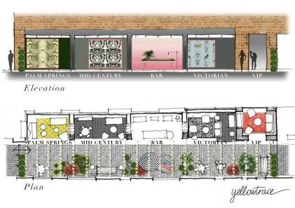 Gumtree Garden Pop-Up Bar | Yellowtrace Concept Design & Sketch Studies