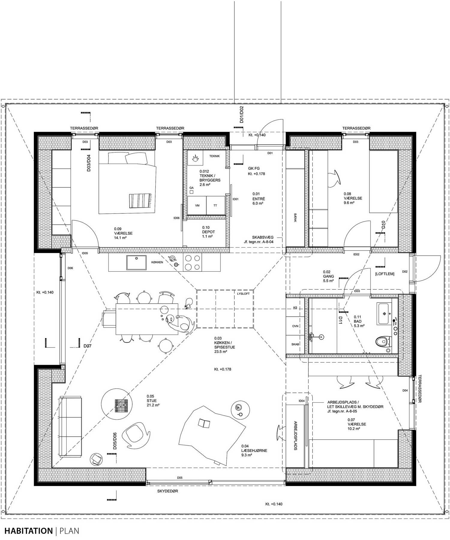 house brick diagram