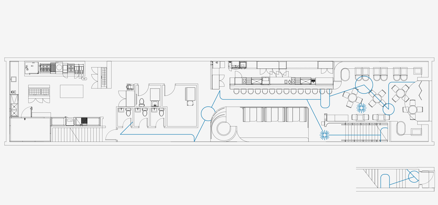 Kissa Tanto Restaurant Bar In Vancouver By Ste Marie Schematic Yellowtrace