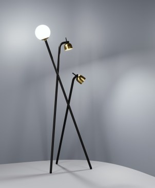 Tripod by Front Design Floor Lamp for Fontana Arte at Euroluce 2017 | Yellowtrace