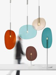 Lollipop by Boris Klimek for Lasvit at Euroluce 2017 | Yellowtrace