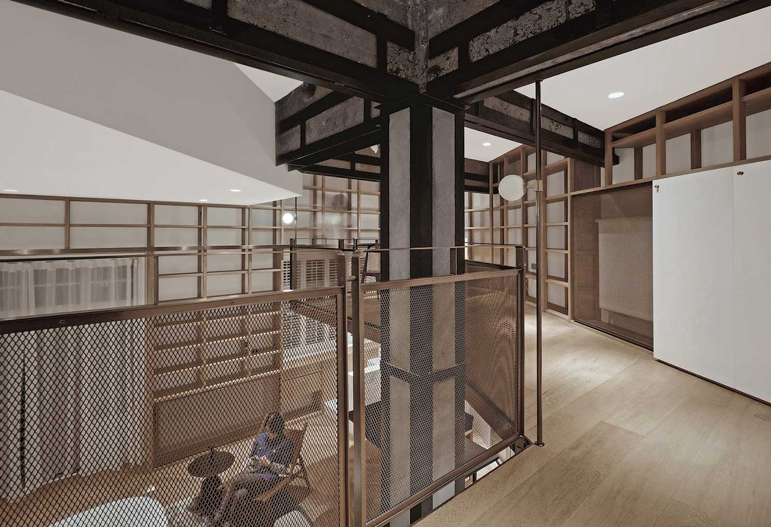 c by apartment with atelier yellowtrace bookshelves taoc shanghai ceiling floor tao to lined