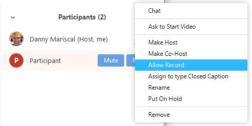 Local recording – Zoom Help Center