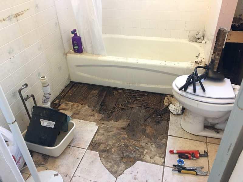 bathroom repair myself