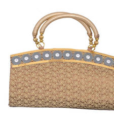 Buy Gorgeous Golden Brocate Clutch clutch online