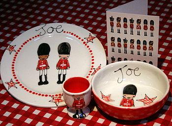 Personalised Soldier Tableware Gift Set