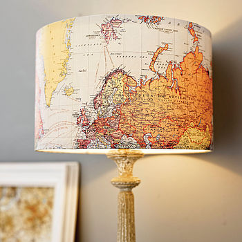 Handmade Vintage Map Lampshade