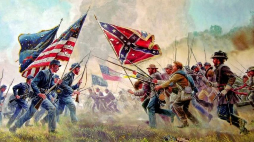 31  of U S  voters think a second Civil War is likely   Big Think The first Civil war as painted by Mort Kunstler  What would a second one  look like