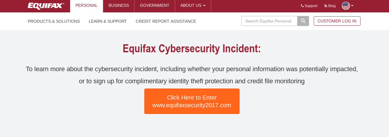 Equifax Monitoring 2017 Security
