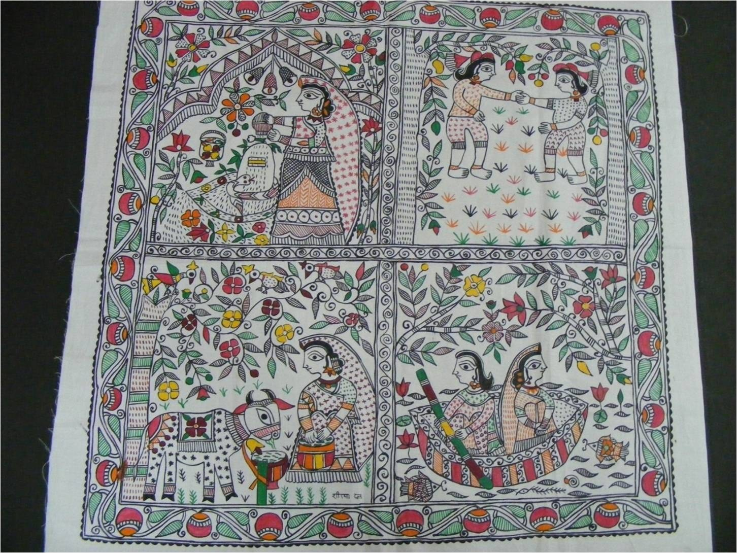 Madhubani Painting on Fiber