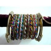 multi-colour-party-wear-silk-thread-metal-bangles