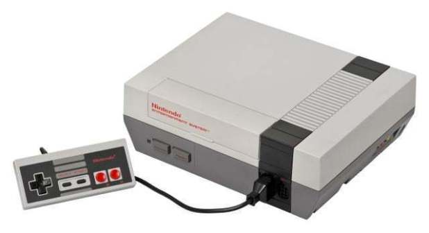 Nintendo Entertainment System (NES) - The NES was released in 1993 in Japan in 1985 and in North America as Femoic.  It worked with the NES controller, which Nintendo re-released for the Nintendo Switch.  Here is (almost) all of its belongings!