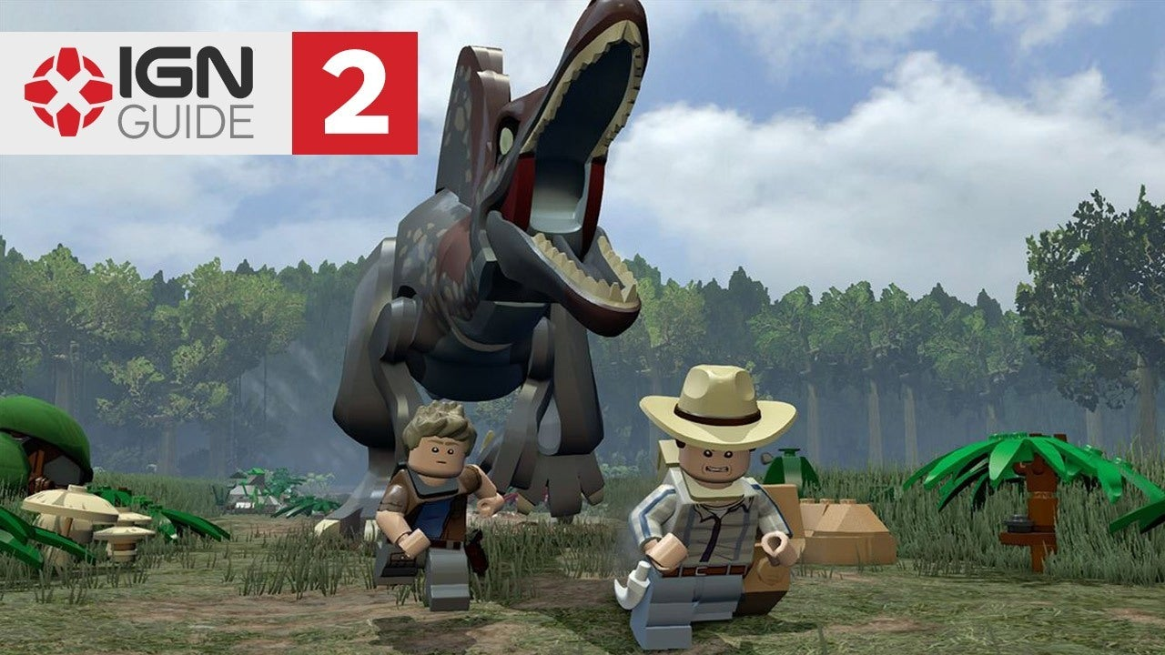 Jurassic Park III Walkthrough The Spinosaurus LEGO Jurassic World IGN Video
