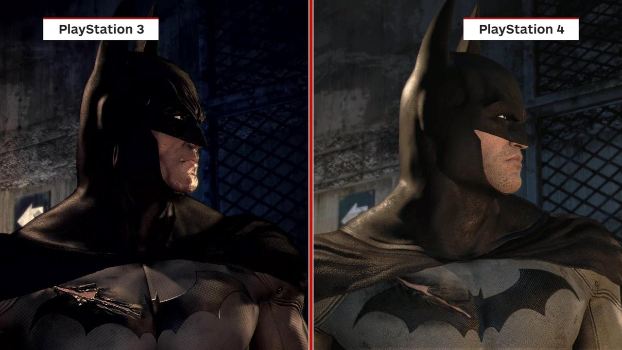 Batman Return To Arkham Graphics Comparison PS3 Vs PS4