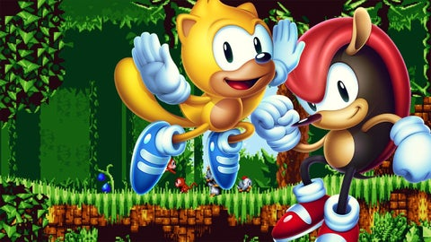 Sonic Mania Plus Encore DLC Review   IGN Sonic Mania Plus   13 Minutes of Encore Mode Gameplay With Mighty  Ray  and