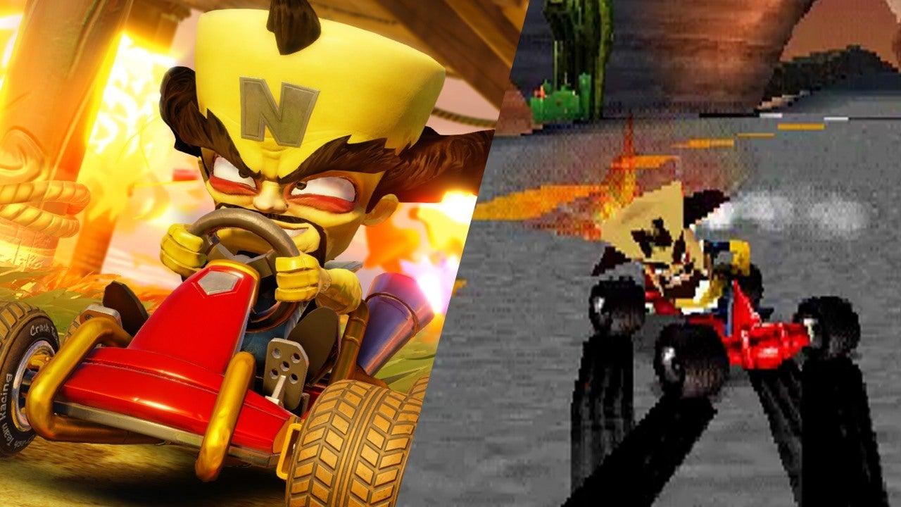 Crash Team Racing Graphics Comparison 1999 Vs 2019