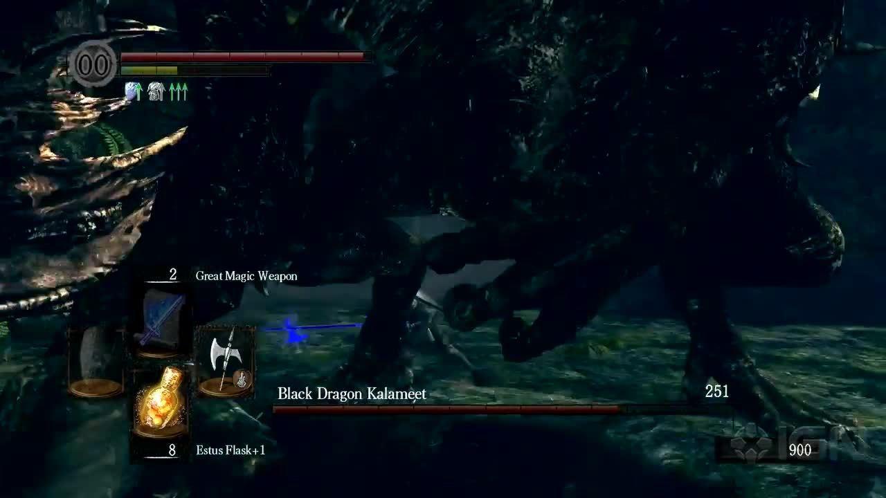 Dark Souls Prepare To Die Walkthrough Black Dragon Kalameet Boss Fight IGN Video
