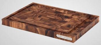 planche a decouper avec rigole en bois debout d acacia