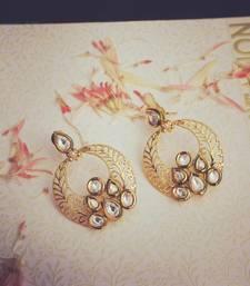 Buy Kundan Filigree Earrings hoop online