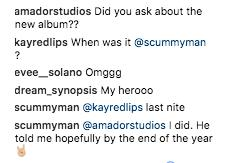 Arctic Monkeys fan new album Instagram comments