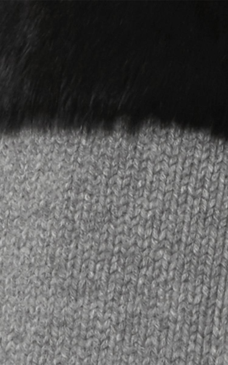 Rabbit Fur Trimmed Cashmere Cardigian By Sally Moda Operandi