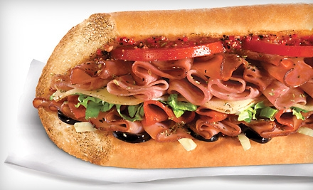 $6 for Two Regular Subs or Two Salads ($12.98 Average Value)