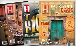"""$12 for a Two-Year Subscription to """"H Texas Magazine"""" ($27.95 Value)"""