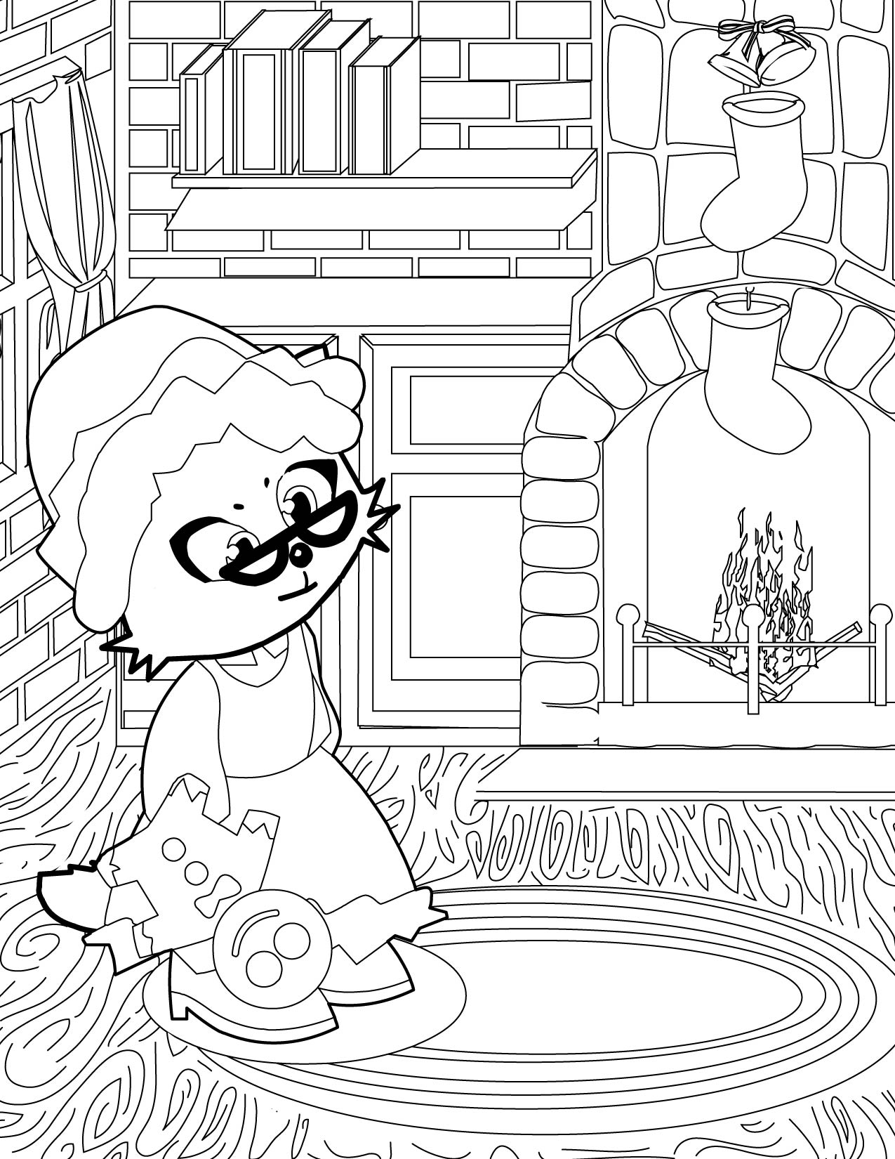 mrs claus coloring page handipoints