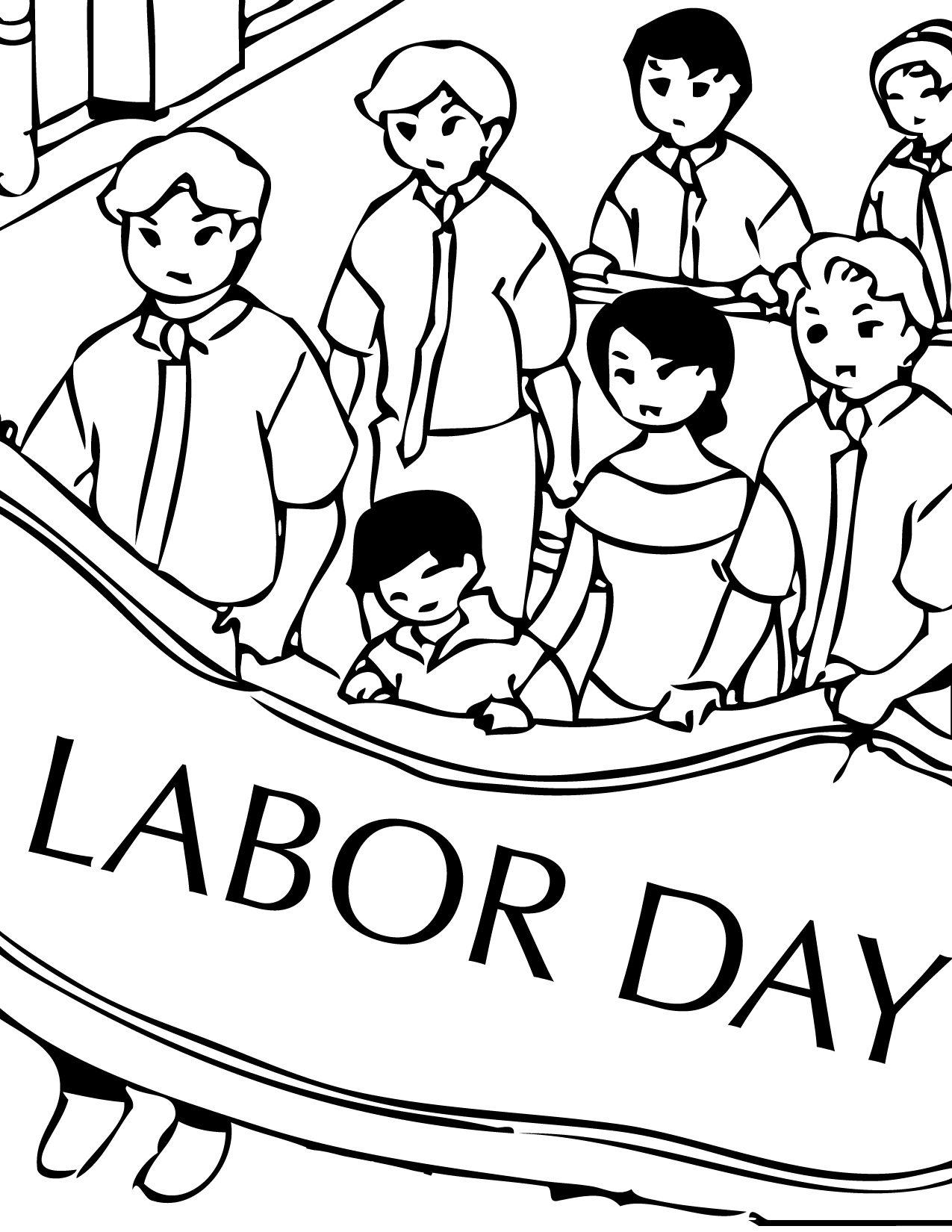 labor day coloring page handipoints