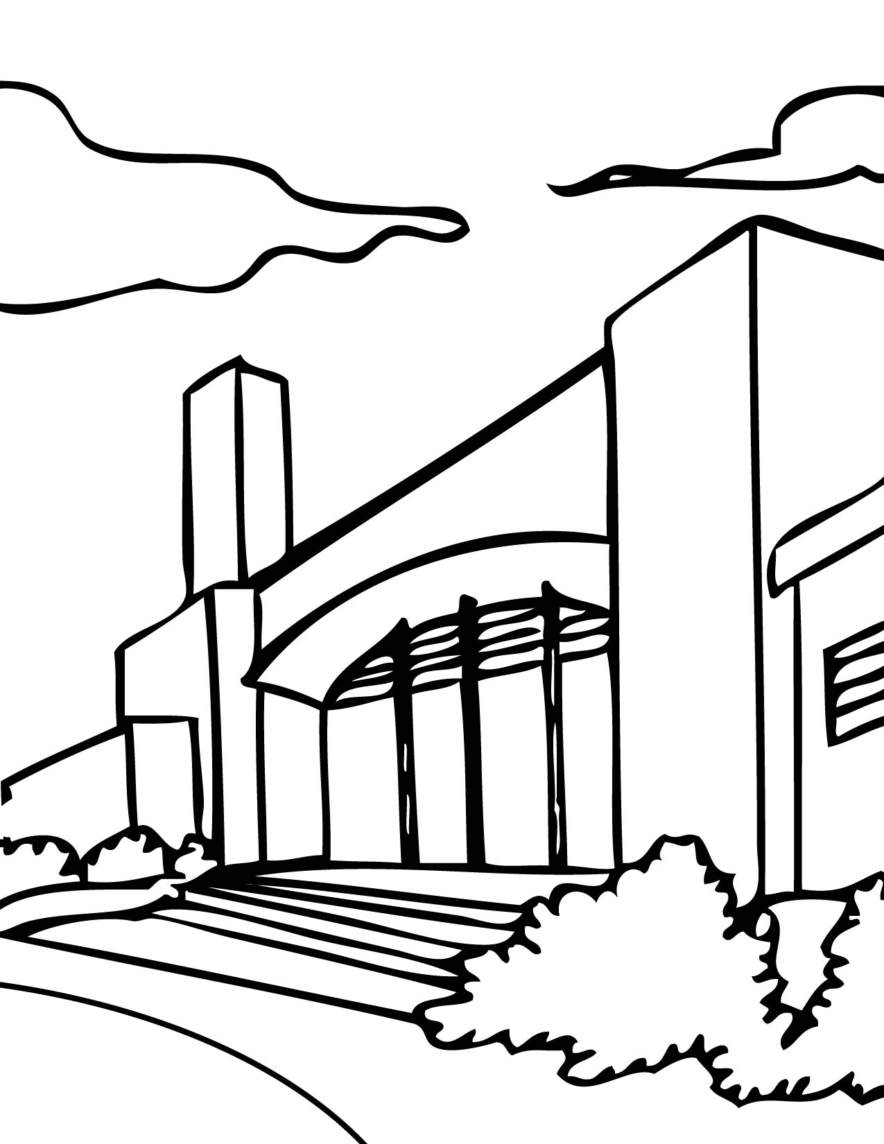 school coloring page handipoints