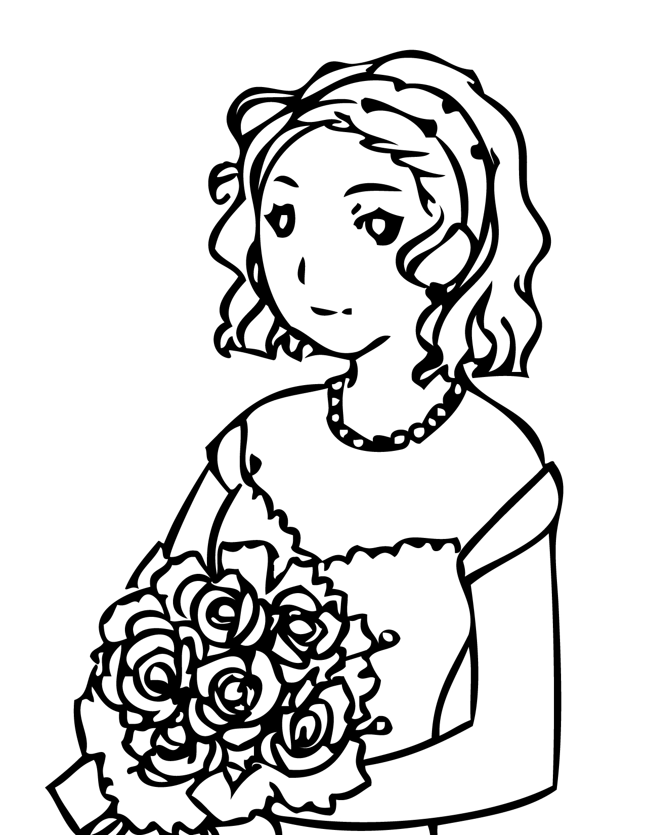 Q and u wedding coloring pages - Simple Wedding Coloring Pages To Print Print This Page Wedding Coloring With Wedding Coloring Pages For Kids