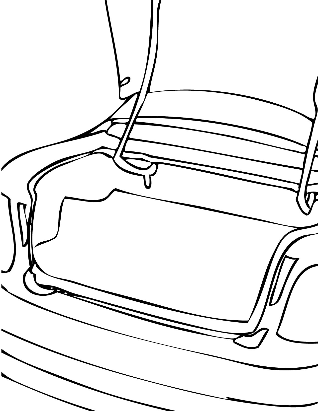 free coloring pages of bare tree trunks
