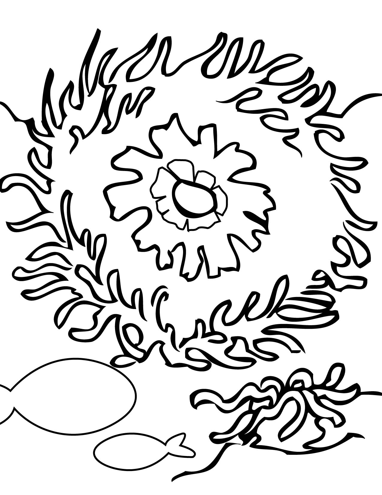 coral reefs coloring pages for kids cooloring com