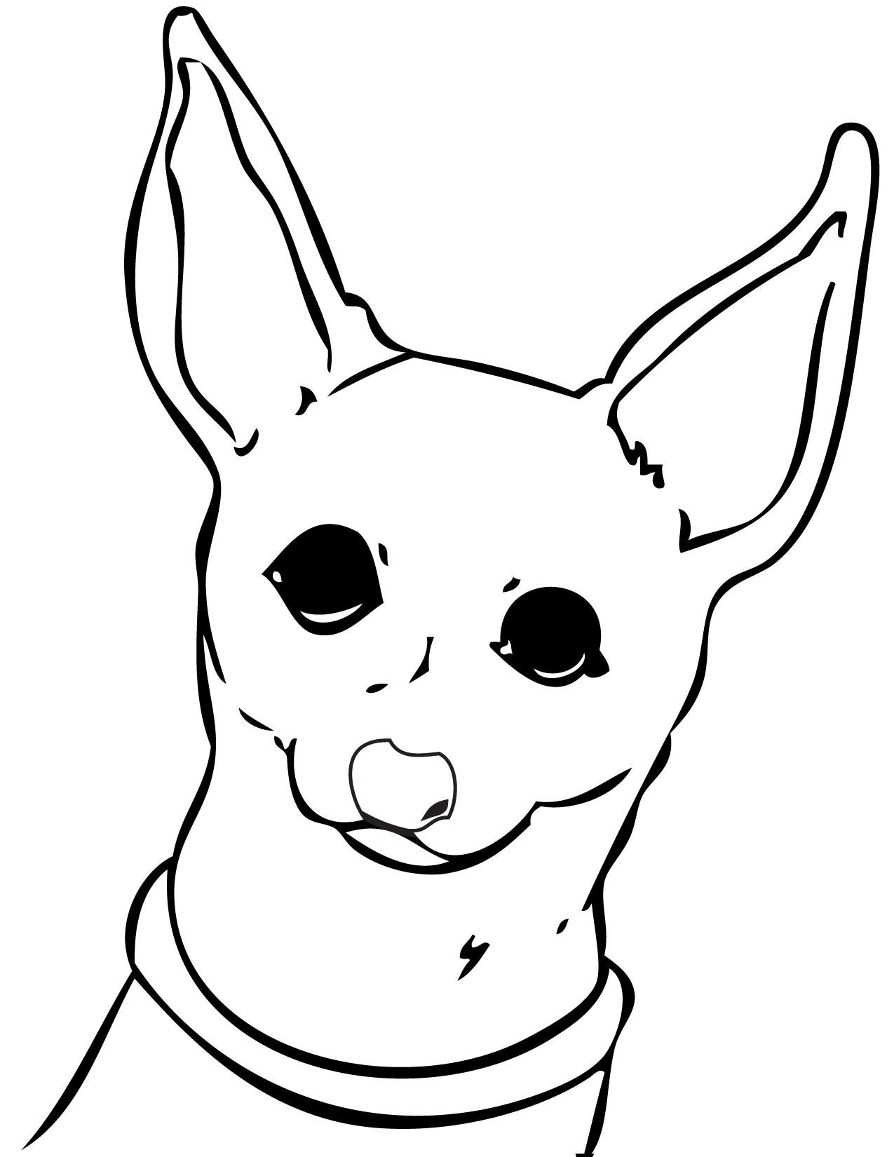 chihuahua coloring page handipoints