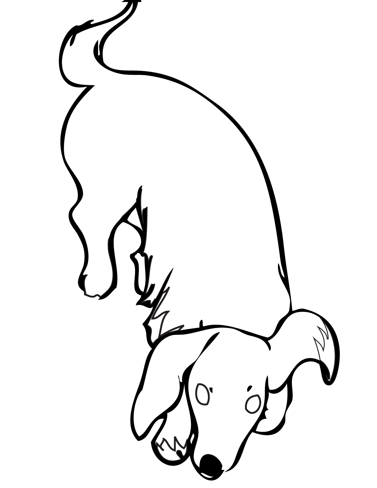 dachshund coloring page handipoints