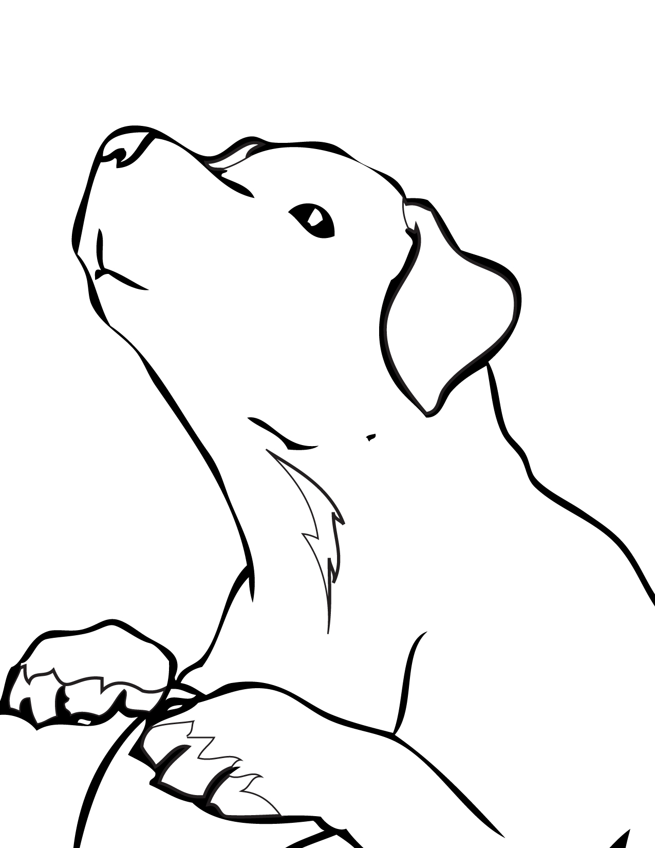 chocolate lab cartoon images coloring coloring pages