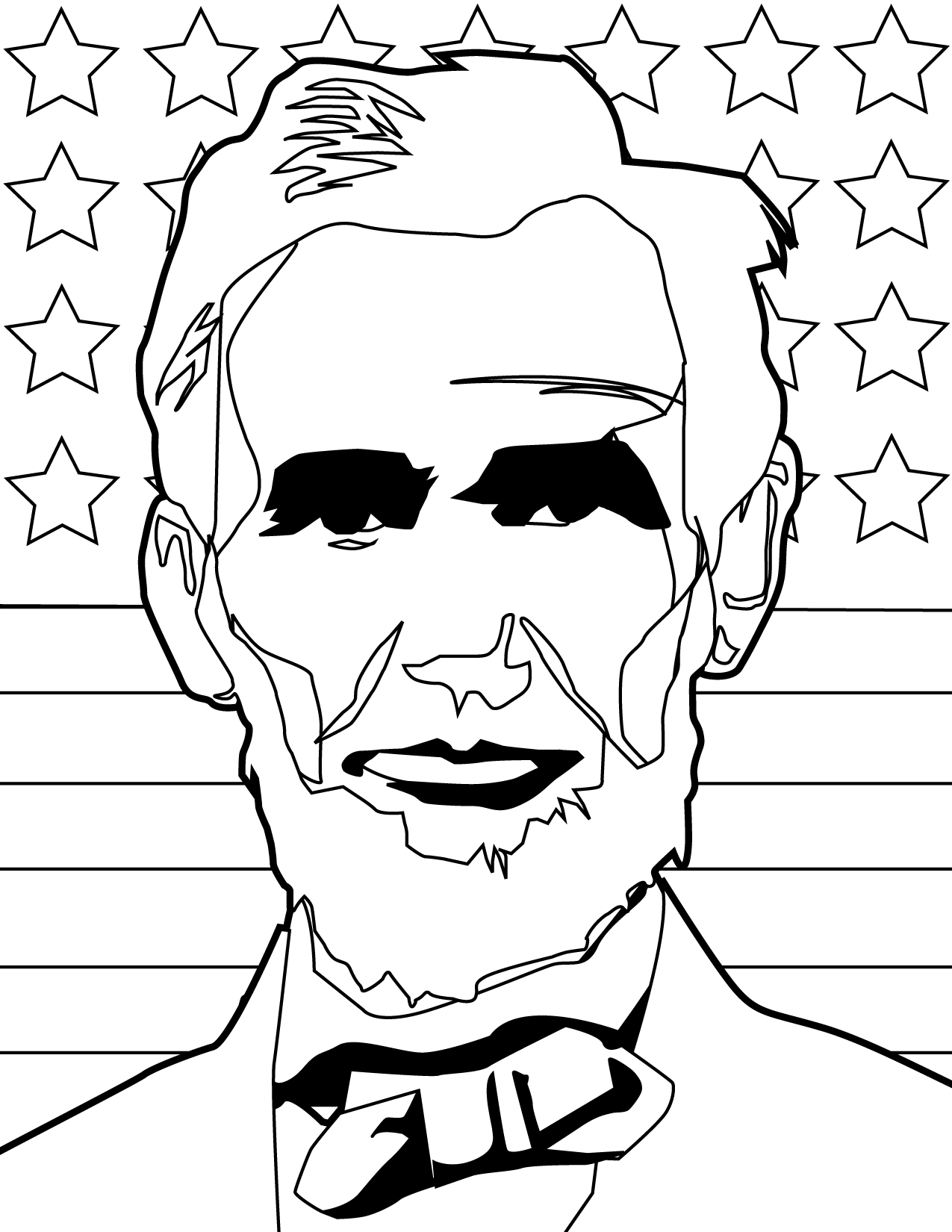 abraham lincoln cabin coloring pages - photo #14