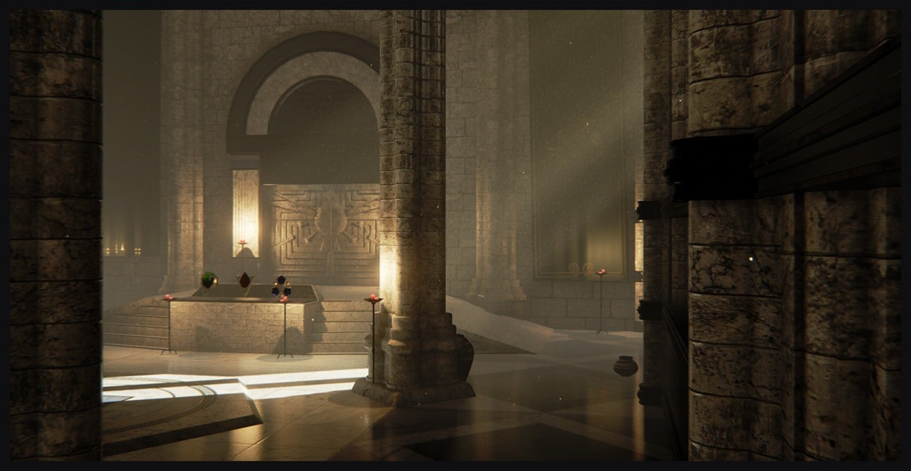 Legend Of Zeldas Temple Of Time Recreated With Unreal
