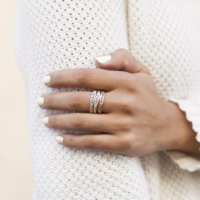 White Gold Stacking Rings 10K White Gold By Lisa Leonard
