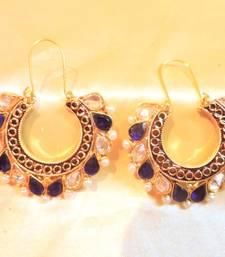 Buy blue stone trendy bali hoop online
