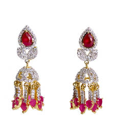 Buy Ruby And American Diamond Jhumka jhumka online