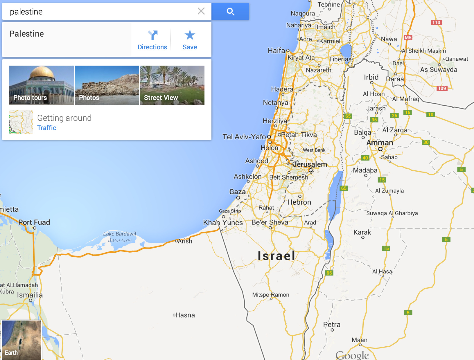 Palestine Does Not Receive Label On Maps