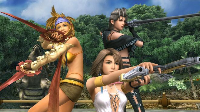 final-fantasy-x-2-group-pose I would welcome an 'Oscars of gaming' if we got hot red carpet looks | Rock Paper Shotgun